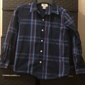 Boy Plaid Button Downed Shirt Long Sleeved